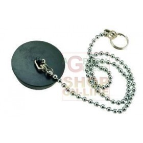 BLACK RUBBER CAP WITH CHAIN BRASS BEADS 90 DIAM. MM. 40