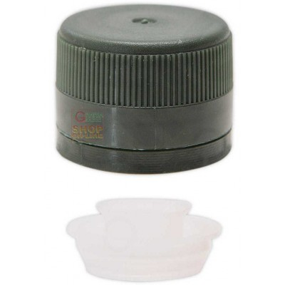 PLASTIC THREADED CAP WITH GREEN NON-FILLING POURER 31.5X24 PCS.