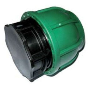 BLACK END TUBE CAP 25