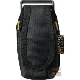 SMALL MOBILE PHONE POCKET IN BLACK OXFORD FABRIC