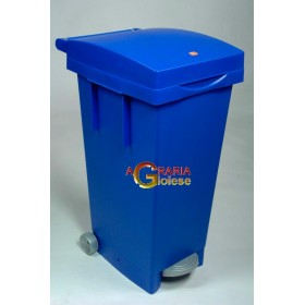 TATA BIN LT. 80 WITH LID COLOR BLUE