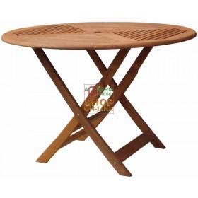 WOODEN TABLE MOD. CLOE ROUND DIAMETER CM. 110