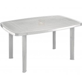 TABLE IN POLYPROPYLENE PP FARO BIANCO OVALE cm. 137x85x72h.