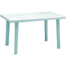 RECTANGULAR WHITE VELO POLYPROPYLENE TABLE cm.126x76h.