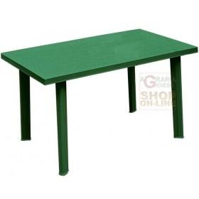 RECTANGULAR GREEN VELO POLYPROPYLENE TABLE CM. 126X76