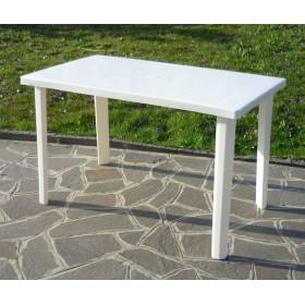 TABLE IN WHITE RESIN CM.120x70h.