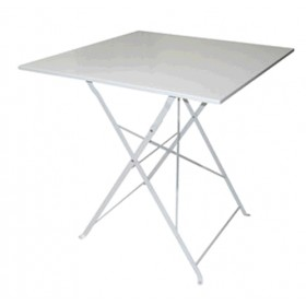 FOLDING SQUARE TABLE OF WHITE COLOR CM. 70X70X71