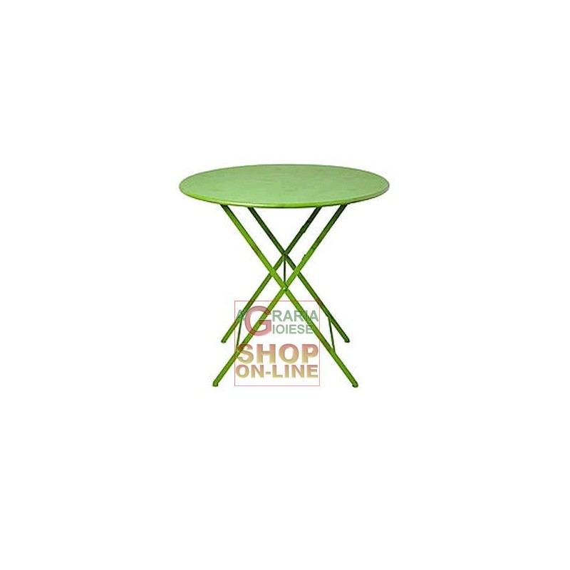 Tavolo tondo pieghevole colore verde diam 70 alto 71 cm for Tavolo alto pieghevole