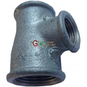 GALVANIZED FEMALE THREADED TEE DIAM. 1 - 1/2 - 3/4
