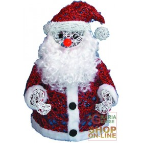 SANTA CLAUS IN SMALL LIGHT WIRE CM.40