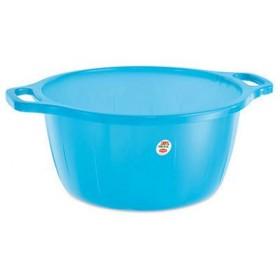 Blue rounded plastic basin diam. cm. 35