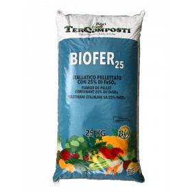 TERCOMPOSTI BIOFER 25 ORGANIC FERTILIZER NITROGEN MICRO PELLET ALLOWED IN ORGANIC AGRICULTURE KG. 25