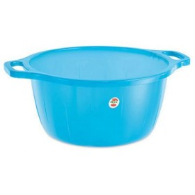 Blue rounded plastic basin diam. cm. 50