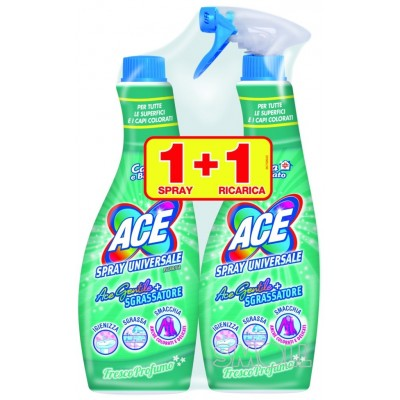 ACE GENTILE BLEACH SPRAY WITH DEGREASER 600 ML + REFILL 600 ML