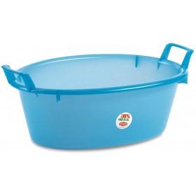 Blue Oval Plastic Basin diam. cm. 55 lt. 23