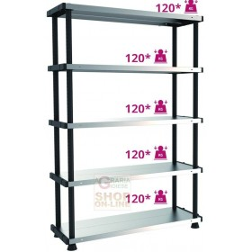 TERRY KIT SCAFFALATURA MPSHELF120RC 5 PIANI 119X45X185