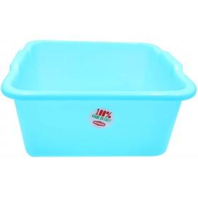 Blue Square Plastic Basin diam. cm. 38 lt. 16