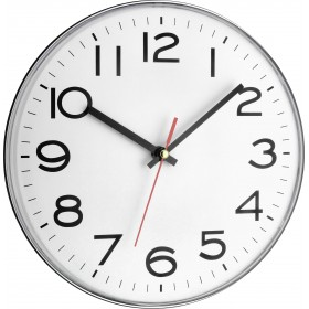 TFA WALL CLOCK WITH SILVER PLASTIC FRAME