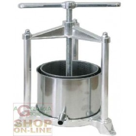 PREMITUTTO MELENZANE GRAPE PRESS IN MEDIUM ALUMINUM diam. 18