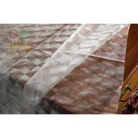 TOVAGLIA IN PVC GROFFATO CM. 140 H. MOD. CRISTAL INCISO N. 47