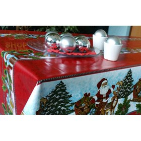 PVC TABLECLOTH CHRISTMAS MOD. 385-4640 CM. 140 H.