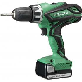DRILL DRIVER HITACHI DV14DJL WITH 2 BATTERIES 14.4V 1.5Ah AND