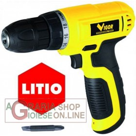 DRILL DRIVER VIGOR VST-720 CORDLESS WITH SAMSUNG LITHIUM BATTERY VOLT 7.2