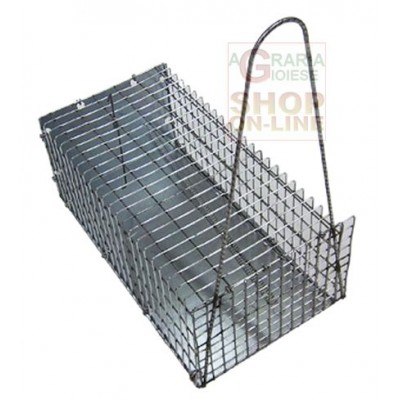 MICE TRAP IN METAL NET LARGE CM. 40 X 18 X 18H