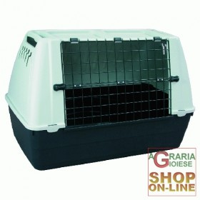 RESIN CARRIER FOR DOGS METAL GRID CM. 88X51X58H.