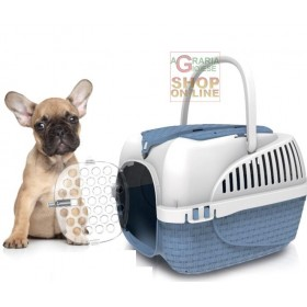 Carrier for Dogs and Cats Bama Tour Blue cm. 52x33x34h