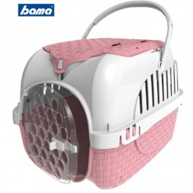 Carrier for dogs cats and bunnies Bama VOYAGER PINK with full optional accessories cm. 52x33x34h