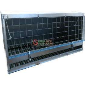 CAR DOG CARRIER IN GALVANIZED SHEET CM. 87.5 x 43 x 47