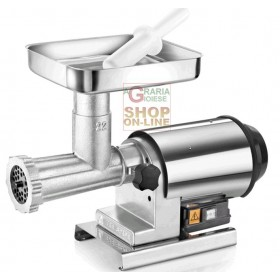 TRE SPADE ELECTRIC MEAT MINCER N. 22 ELEGANT PLUS P. WATT. 600 HP. 0.80 TIN-PLATED CAST IRON