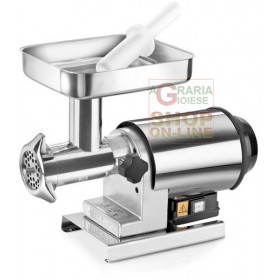 TRE SPADE ELECTRIC MEAT MINCER N. 22 INOX-80 HP. WATT. 600 COMPLETELY INOX
