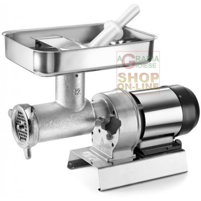TRE SPADE ELECTRIC MEAT MINCER N. 32 ELEGANT WITH CAST IRON BODY HP. 1.5 WATT. 1100