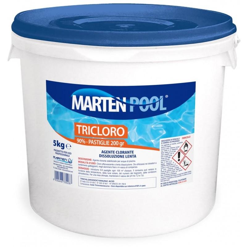 Cloro in pastiglie per piscine kg 5 for Cloro liquido per piscine
