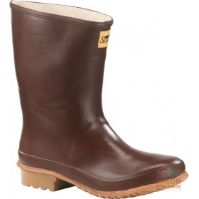 RUBBER ANKLE BOOT WITH CALENDERED SOLE BROWN COLOR TG 39 47