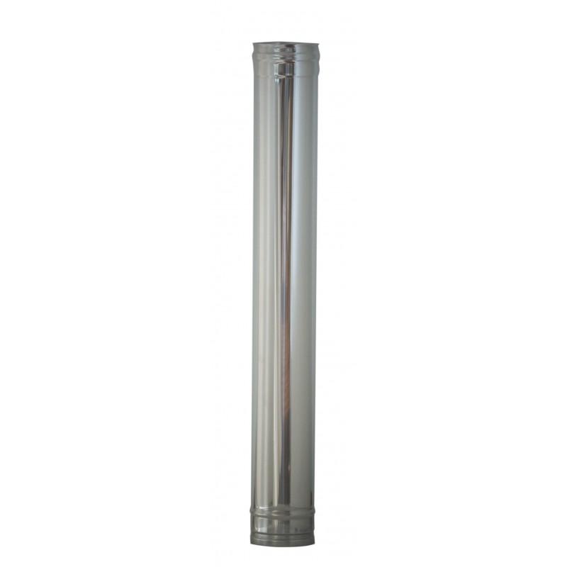 Tubo inox per canna fumaria aisi 304 cm 100 diametro mm 250 - Costo canna fumaria esterna al metro ...