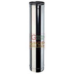 TUBO INOX PER CANNA FUMARIA AISI 304 CM. 100 DIAMETRO MM. 300