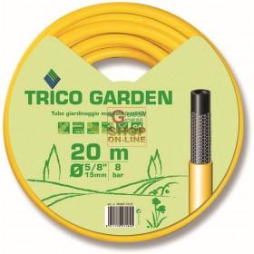 TUBO TRICO GARDEN GIALLO-NERO MT. 20 DIAM. 5/8 MM. 15