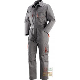 SUIT 65% POLYESTER 35% COTTON MULTIPOCKETS COLOR GRAY ORANGE