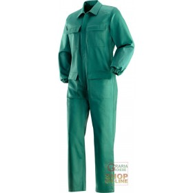 100% COTTON FIREPROOF SUIT GR 370 MQ GREEN COLOR TG 48 62