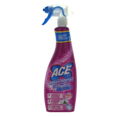 ACE SPRAY MOUSSE BLEACH AND DEGREASER HOME AND LAUNDRY 650 ML