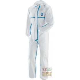 TYVEK JUMPSUIT WITH HOOD WELDED SEAMS TG ML XL XXL