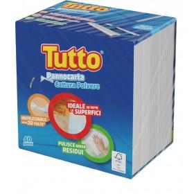 TUTTO PANNOCARTA 40 PANNI CATTURA POLVERE RIUTILIZZABILE