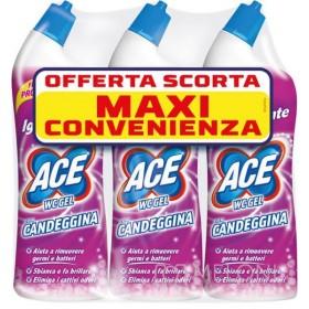 ACE WC GEL CON CANDEGGINA FRESCO PROFUMO 700 ML x 3 PZ