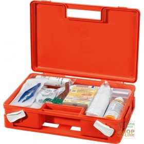 POLYPROPYLENE CASE FOR FIRST AID ATTACHMENT 2 ORANGE BASE DIM 32X23X9 CM