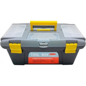 TOOL CASE WITH TRAY CM. 43x26x21