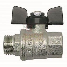 BALL VALVE MF. 3/8 INCH BUTTERFLY PASSAGE TOTAL