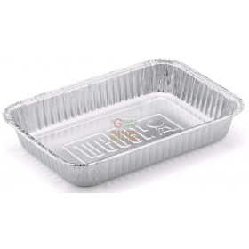 ALUMINUM CONTAINER TRAY 12 PORTIONS CM. 36 X 29 X 4.5H. PZ. 1